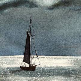 Sailboat on Sparking Water by Vicki B Littell
