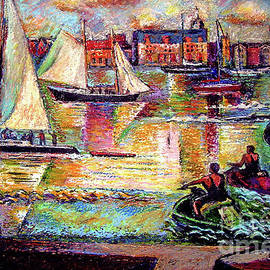 Sailboats In Color by Stan Esson