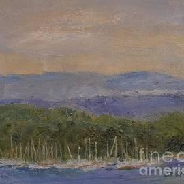 Sailboats Moored on Lake Champlain by Barbara Moak