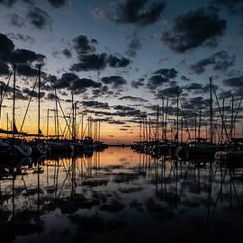 Sailboats with pretty sky by Sven Brogren