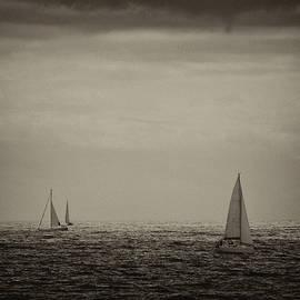 Sailing along the coast of Barcelona by JM Ardevol