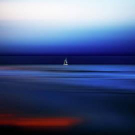 Sailing at Night in Port Douglas by Imi Koetz
