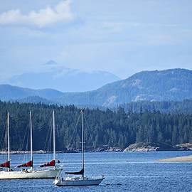 Sailing Boats on Quadra Island by Marta Kazmierska