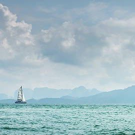 Sailing in the Andaman Sea by Alexey Stiop