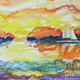 Sailing Life Watercolor I by Robert Yaeger