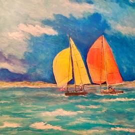 Sailing The Blue Sea by Anne Sands