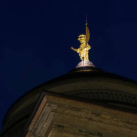 Saint Alexander of Bergamo Gold Statue Crowning the Dome of the Cathedral by Georgia Mizuleva