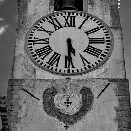 Saint Mary church clock tower in Tavira. Portugal by Angelo DeVal