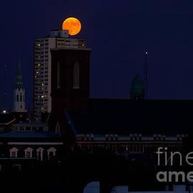 Saint Paul's Moon Philadelphia by Clay Cofer