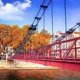 Saint Vincent Bridge Lyon France  by Carol Japp