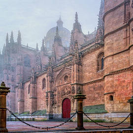 Salamanca Spain Cathedral in Fog by Joan Carroll