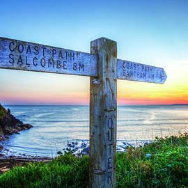Salcombe Devon Coastal Path Sunset by Paul Thompson