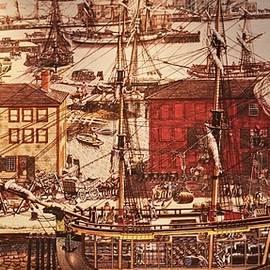 Salem Harbor circa 1700s by Christopher James