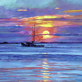 Salmon Trawler at Sunrise by David Lloyd Glover