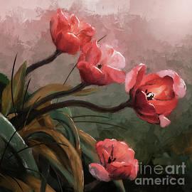 Salmon Tulips by Lois Bryan