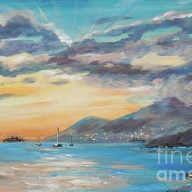 Salt Plage Sunset Dock by Linda Olsen