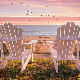 Salty Breezes at Sunset by Debra and Dave Vanderlaan