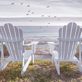 Salty Breezes Painting by Debra and Dave Vanderlaan