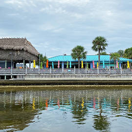 Sams Beach Bar With Umbrella Reflections by Aimee L Maher ALM GALLERY