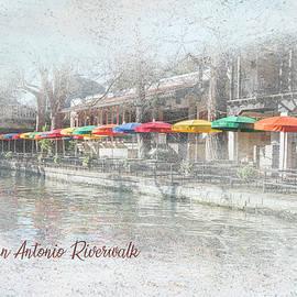 San Antonio Riverwalk - Colorful Umbrellas by Patti Deters