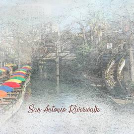 San Antonio Riverwalk - Umbrellas and Steps by Patti Deters