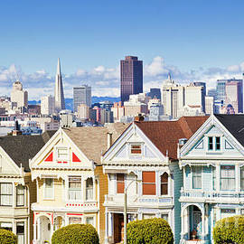 San Francisco skyline and Painted Ladies, California by Neale And Judith Clark