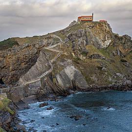 San Juan de Gaztelugatxe near Bilbao Spain by Joan Carroll
