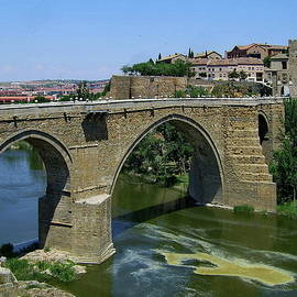 San Martin Bridge, Toledo, Spain by Lyuba Filatova