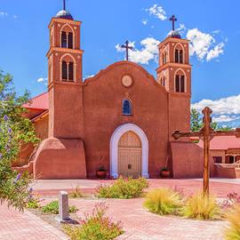 San Miguel Mission Socorro New Mexico Courtyard View by Debra Martz