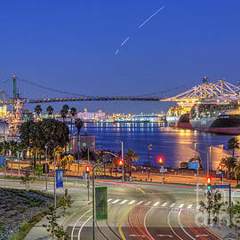 San Pedro Port of LA Waterfront by David Zanzinger