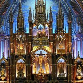 Sanctuary of Notre Dame Basilica, Montreal by Lyuba Filatova