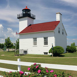 Sand Point Lighthouse Square by David T Wilkinson