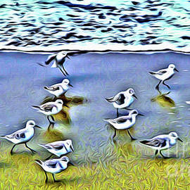 Sandpipers On Parade by Jerome Stumphauzer