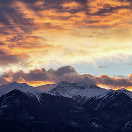 Sangre sunset snowcapped peaks by Jennifer Myers