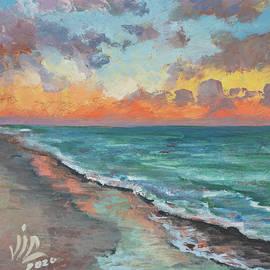 Sanibel ,Florida seascape painting by Vali Irina Ciobanu by Vali Irina Ciobanu