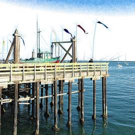 Santa Cruz Fishing by Christina Ford