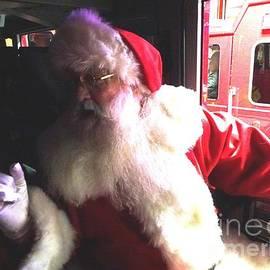 Santa Knows Inside Firetruck by GJ Glorijean