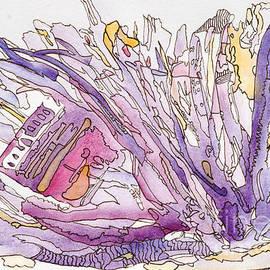 Santa Maria - Abstract  by Patty Donoghue