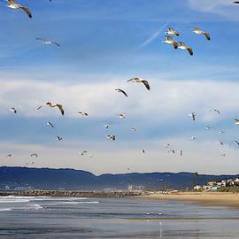 Santa Monica Bay and Crew by Joe Schofield