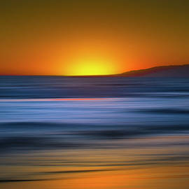 Santa Monica Beach Sunset Abstract by Mark Andrew Thomas