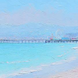 Santa Monica Pier Impression by Jan Matson