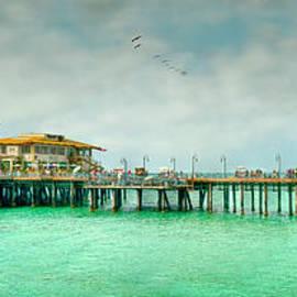 Santa Monica Wooden Pier Landmark  by David Zanzinger