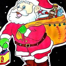 Santa With a bundle of joy by Sindhuja Jaiswal