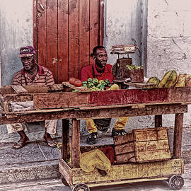 Santiago de Cuba Street Vendors by Claude LeTien
