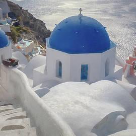 Santorini Steps by Kathi Isserman