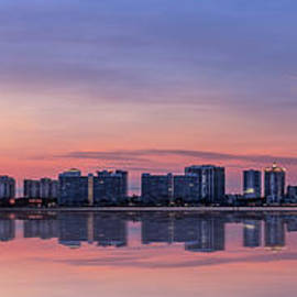Sarasota Skyline, Florida Series, Orange  by Liesl Walsh
