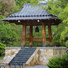Sasebo Japanese Garden Bell Tower Albuquerque by Mary Lee Dereske