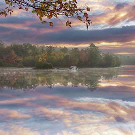 Saugus Birch Pond Sunrise Colors by Jeff Folger