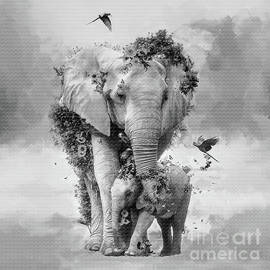 save plants and Elephants by Gull G