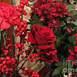 Scarlet Sensation - Winter Flowers and Berries by Kathryn Jones